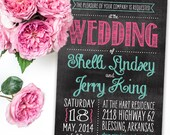 Chalkboard Engagement Party Invitation - Printable File or Printed Invitations