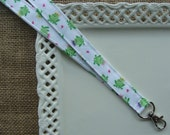 Fabric Lanyard - Frogs - Looking for My Prince