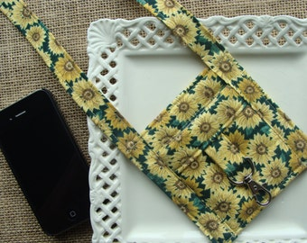 CELL PHONE Lanyard / Keys - Classic Sunflowers