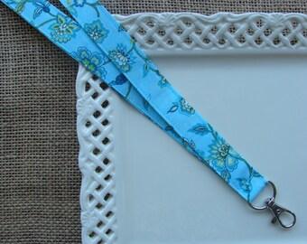 Fabric Lanyard  - Beautiful Day Flowers