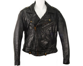 Vintage Motorcycle Jacket, Taubers, Leather, Collectible Biker Jacket, Vintage 1960s