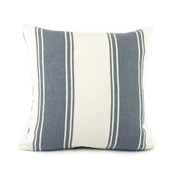 Ralph Lauren Striped Throw Pillow Cover 18x18 Blue