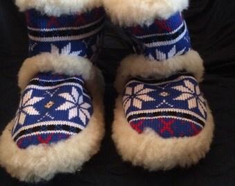 Welda brand fluffy 100% Wool Slippers from Germany sz 39