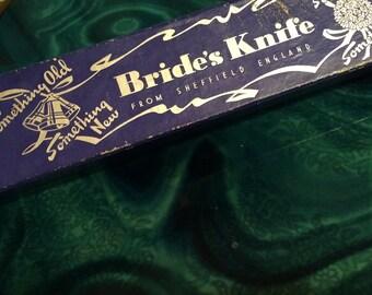 Vintage Wedding Cake Knife. Brides Knife. Vintage Wedding. Vintage Bridal Knife. Bride Gift.