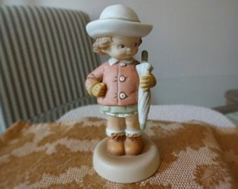 """Lucie Attwell """"Waiting For The Sunshine"""" Vintage Figurine"""