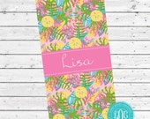 Personalized Beach Towel - Monogram Starfish Lilly Inspired Towel - Pool, Lake or Cruise Towel