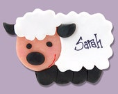 Lamb/Sheep Handmade POLYMER CLAY  Personalized Christmas Ornament