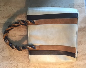 Vintage 1970's Brown, Camel, Taupe Purse Great Condition
