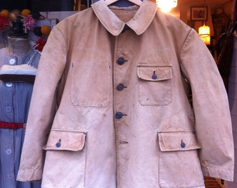 French Antiques Hunting Jacket 1950