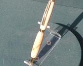 Handcrafted wooden twist type stylus/pen, Durian