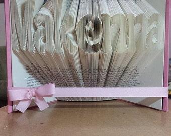 Custom Folded Book Art - Customized gifts for weddings, anniversaries, birthdays, holidays, teachers, graduation, him or her.