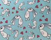 Floating bunnies in blue, Knuffle bunny Collection by Mo Willems for Cloud 9 Fabrics, 1/2 yd
