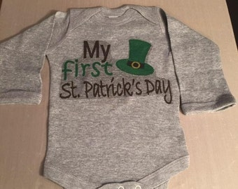 1st St Patricks Day Onesie - Sublimation shirt  - FIRST st St Patricks Day
