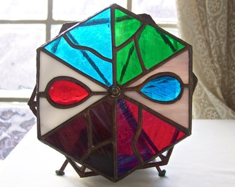 Vintage Kaleidoscope Stained Glass Kaleidoscope Psychedelic Fun Spirograph 1980s