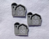 GRAY BARN Felt EMBELLISHMENT ~ Machine Embroidered Felt / Applique ~ Ready To Ship ~ Available Cut Or Uncut