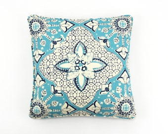 ON SALE Quadrille New Batik Pillows (Both Sides) with Self Welting (16 X 16)