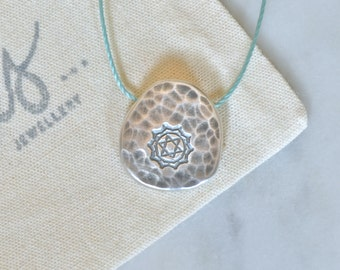 Silver Heart Chakra Necklace