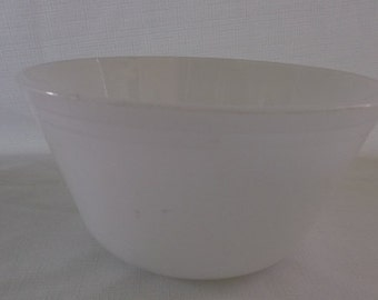 Vintage Milk Glass Mixing Bowl, Federal Mixing Bowl
