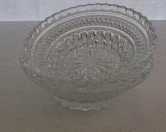 Vintage Bowls, Pressed Glass Serving Bowls, Small Serving Bowls, 2 Pieces