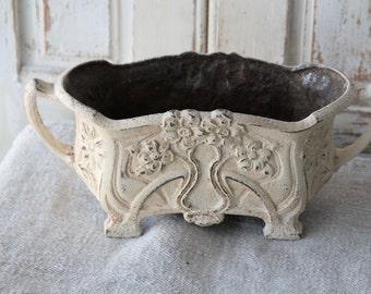Antique French iron urn - jardiniere