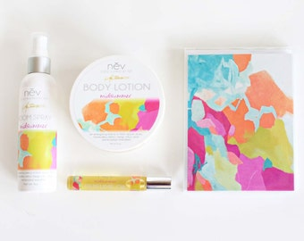 """Bath and Beauty Gift Set - Luxury Gift Set - Lotion and Home Fragrance Gift Set - """"Midsummer"""""""