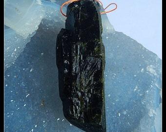 Nugget Epidote  Gemstone Pendant Bead,58x20x17mm,36.6g