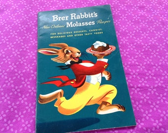 Molasses Cookbook, vintage cookbook,Brer Rabbit cookbook, 40's cookbook