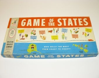 Game of the States Vintage 1960 Milton Bradley Board Game - United States of America - Complete