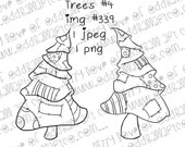 INSTANT DOWNLOAD Whimsical Dancing Trees - Set #4 Image No.339 by Lizzy Love