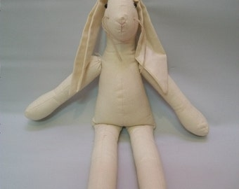 Craft Supplies, Cloth Bunny Doll, Cloth Doll To Decorate, Rabbit Doll, Undecorated Doll, Crafts, Decorating Crafts, Toys, Fabric Doll,