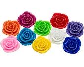 5 Resin FLOWER Beads JUMBO 48mm Chunky Necklace Rose Centers