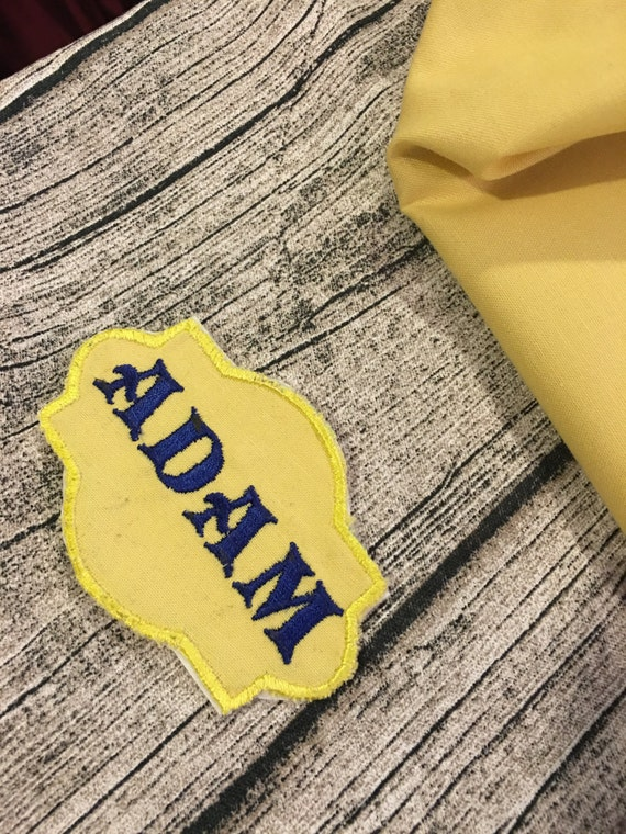 Name Patch - Embroidered Personalized Iron On or Sew On