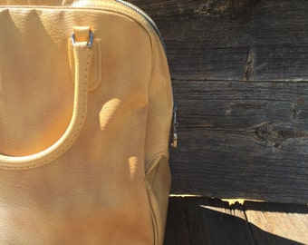Yellow Vintage Sears Traveler Bag, Yellow Luggage, Vintage Sears, Vintage Luggage