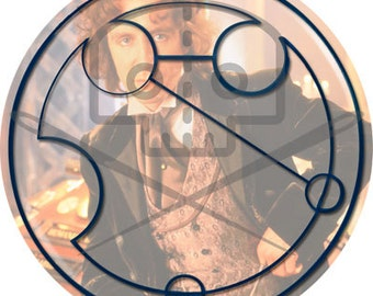 Doctor Who- Inspired EIGHT / McGANN Button