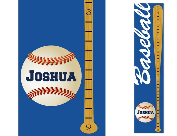 Growth Chart Children Canvas Baseball Growth Chart Personalized Sports Decor Baby OHSC