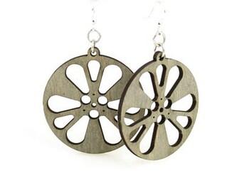Film Reels - Wood Laser Cut Earrings