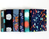 Quiltsy Destash Party - Navy Coral Teal Fabric Bundle by Cotton and Steel - Modern Fat Quarters - 6 Fabric Bundle