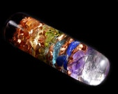 Small Orgone Generator Chakra Wand  .... see description for list of stones (t12)