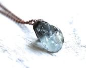 Blue topaz necklace | Raw topaz necklace | Electroformed necklace | Topaz necklace | Raw crystal necklace | Raw stone necklace | Boho