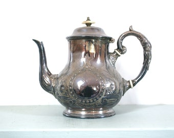 20% OFF Marked Price - Antique EPBM Teapot by JB Chatterley & Sons of Birmingham