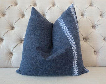 "18""x18"" Vintage Indigo batik Hmong cushion cover, Handwoven Cotton Fabric,Decorative Cushion,Throw Pillow,Decorative Pillows"