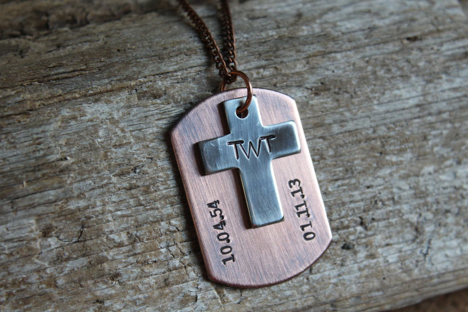 Dog Tag With Cross Remembrance Necklace Loss Of Loved One