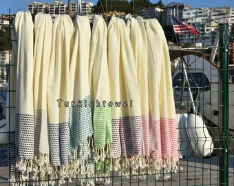 Turkishtowel-2016 Collection-Hand woven,very soft-HASIR-Turkish Bath,Beach Towel-You can chooise weft colors