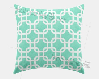 Square Pillow Cover - Mint Square - S1
