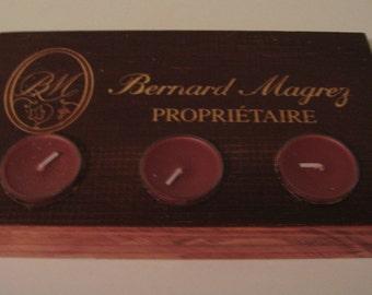 Bernard Magrez Bordeaux Wine Candle Holder