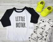 Little Brother Shirt Little Bro Shirt Raglan Tee Sibling Shirts Raglan shirt Kids Shirt Pregnancy Announcement Brother Tee Cool Brother
