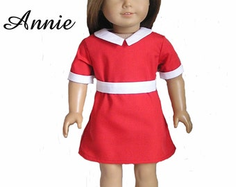 PDF Pattern Annie for 18 Inch Doll like American GIrl