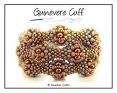 Beading Pattern Cubic Right Angle Weave Beaded Balls Bauble Cuff Tutorial GUINEVERE CUFF instant download PDF