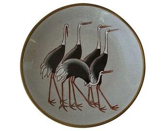 Mid-Century Modern Ceramic Ostrich Bowl