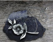 Spring Sale 10% Wild Rose Large Pendant Necklace